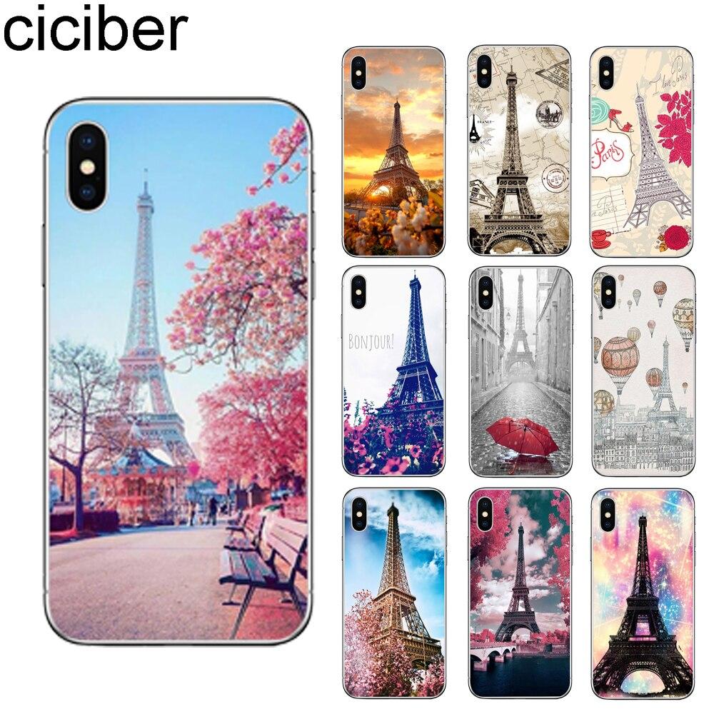 Ciciber Романтический чехол для телефона с Эйфелевой башней Парижа для iPhone 11 Pro Max 7 6 6s 8 Plus 5S SE X XR XS Max мягкий чехол из ТПУ Fundas Coque
