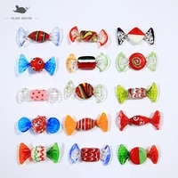 15pcs custom vintage murano style red glass sweets candy ornament for home party wedding christmas festival decorations gift new