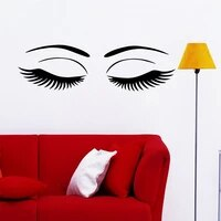 new beauty salon eyes wall sticker wall stickers wall art wall paper stickers for girls bedroom decor accessories