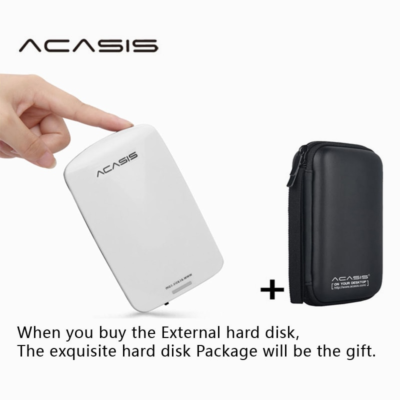 Free Shipping On Sale 2.5''  ACASIS Original 80GB-1TB Storage USB2.0 HDD Mobile Hard Disk External Hard Drive Have switch power
