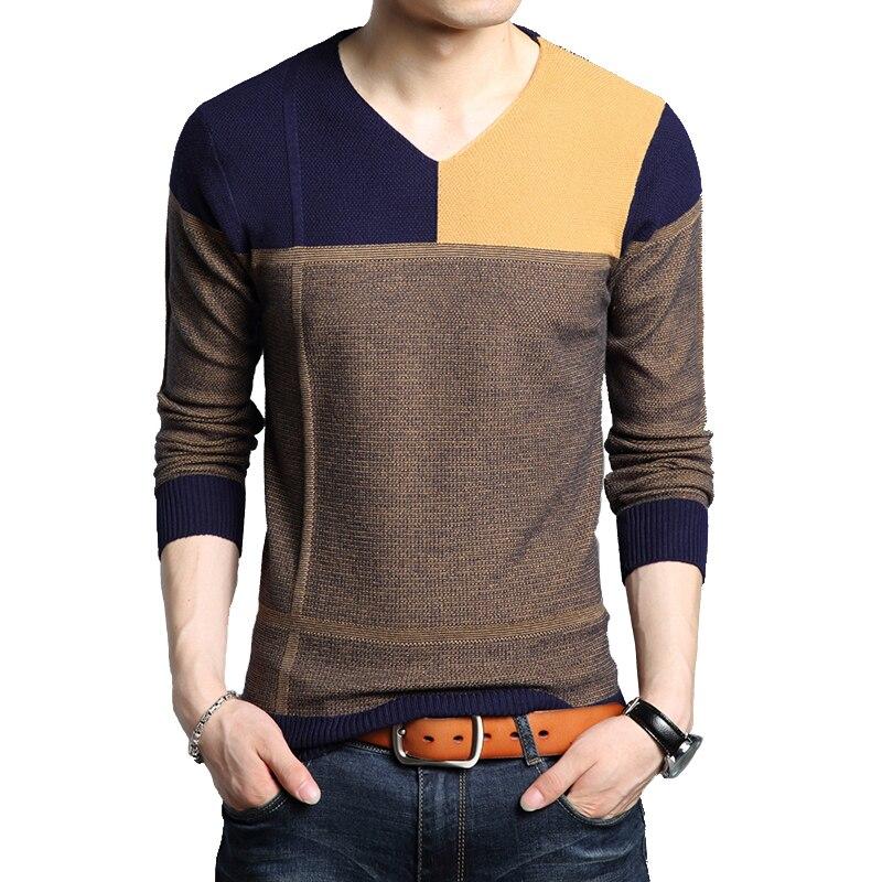 Мужской осенний свитер с длинным рукавом, мужской свитер, Мужской Повседневный свитер с длинным рукавом, облегающие свитеры, верхняя одежда...