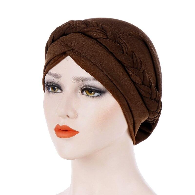 Мусульманские европейские и женские монохромные головные уборы с одной тесьмой, шелковые, молочные, индийские, стандартные головные уборы, ...