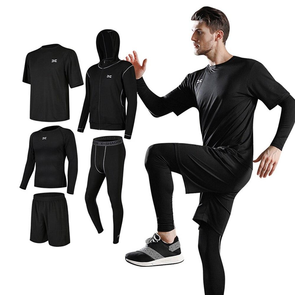 ICozzier-بدلة رياضية للرجال ، مجموعة من 5 قطعة/المجموعة ، ملابس رياضية مضغوطة للجيم ، اللياقة البدنية ، الجري ، الملابس الرياضية ، جوارب التمرين
