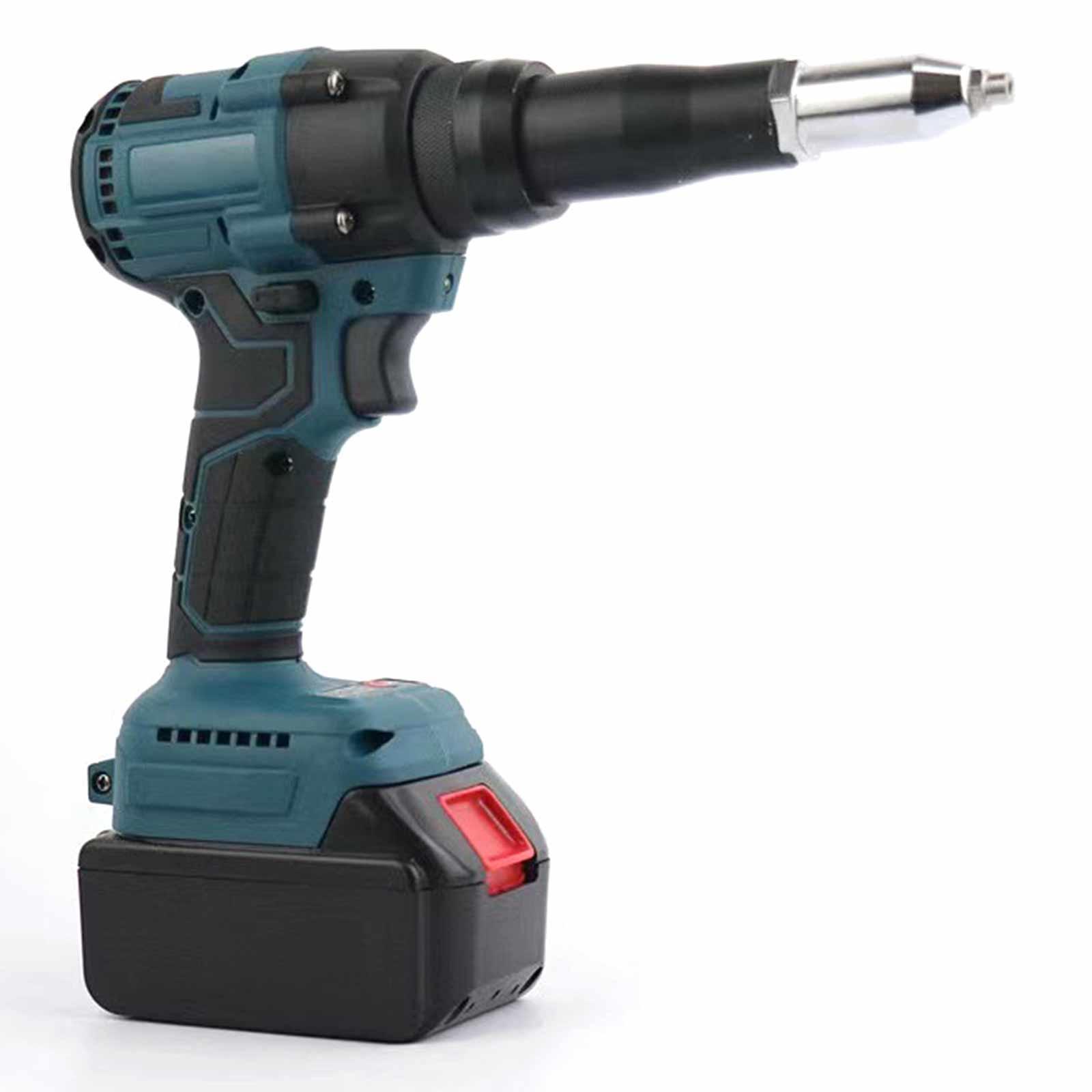 Electric Rivet Gun Cordless Rivet Nut Gun Drill Insert Pull Riveting Tool 3.2-5.2mm with LED Light for Makita 10*1800mAh Battery