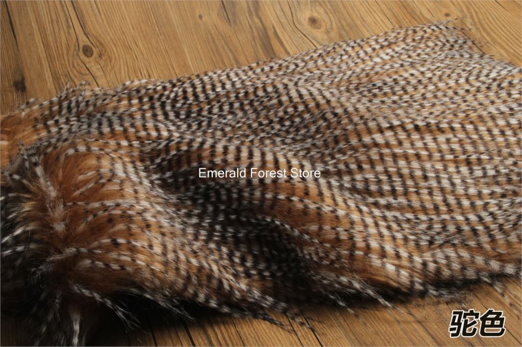 High quality faux fur fabric, Imitation peacock feathers plush fabric,DIY hand cloth,felt craft,150cm*50cm/pcs