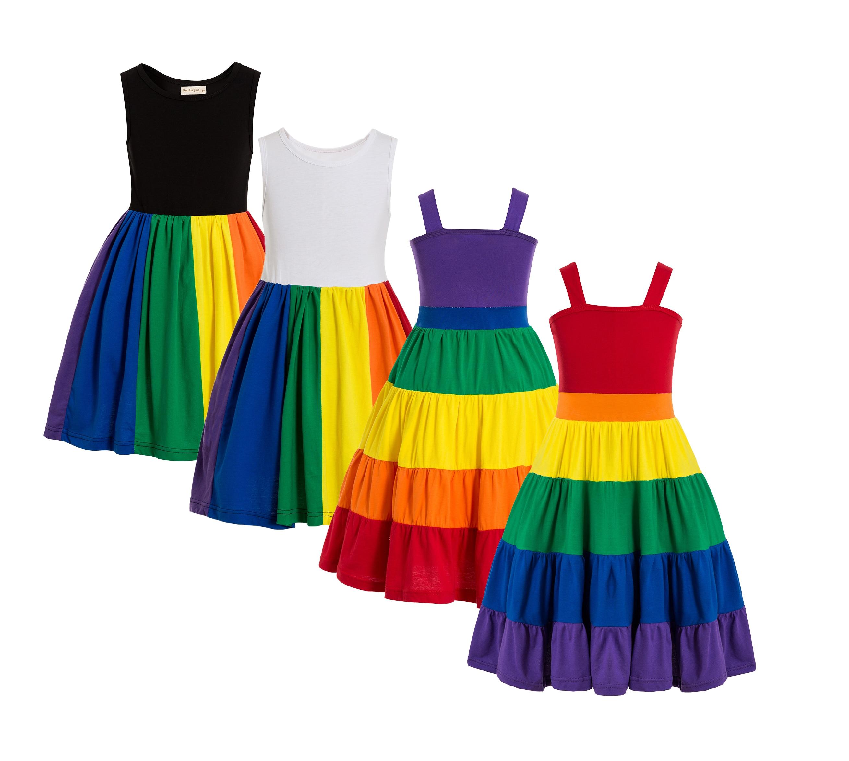 Regenbogen Geburtstag Party Kleid Jojo Siwa Tutu Kleid Geburtstag Regenbogen kleid Mädchen regenbogen drehen kleid Party kleid twirly kleid