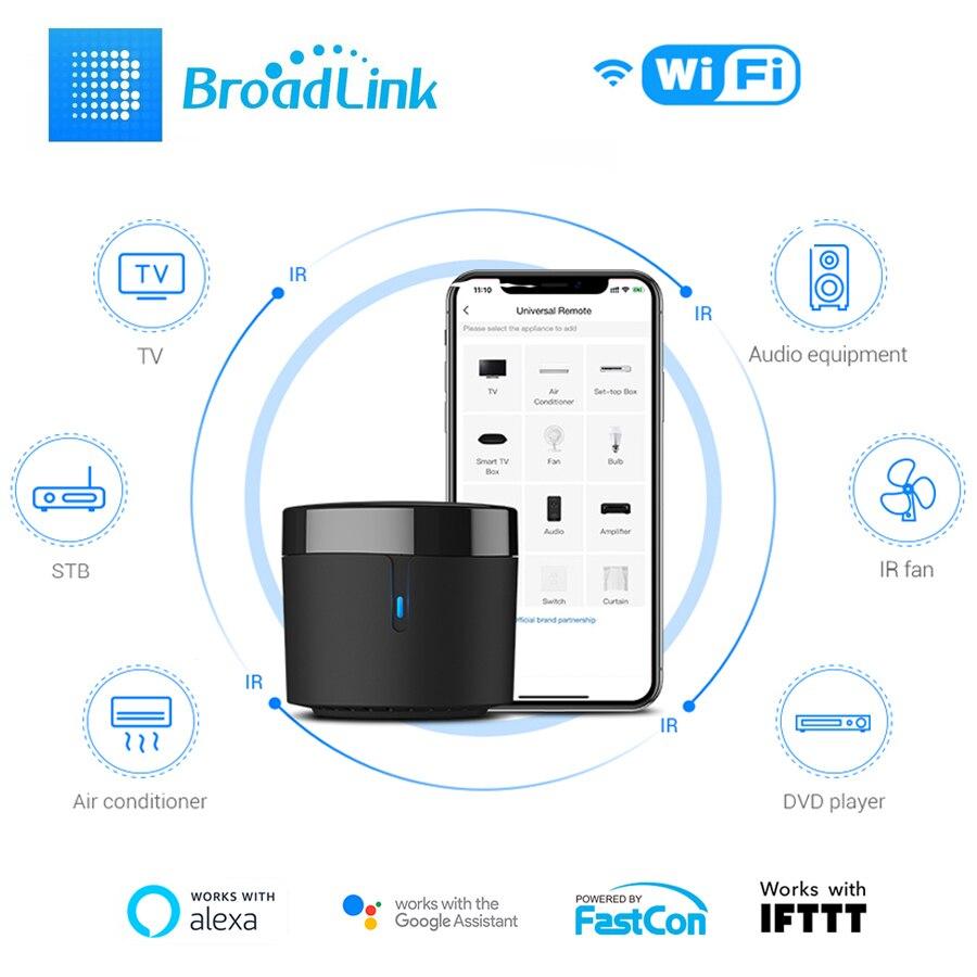 Broadlink RM4 Mini Smart Home WiFi ИК-пульт дистанционного управления с датчиком температуры и влажности HTS2 Alexa Goolge HomeDomotica