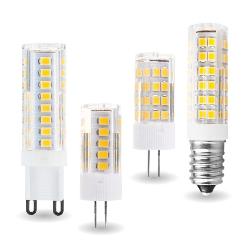 G9 G4 E14 Светодиодный лампочки переменного тока 220V 2835SMD прожектор, 5 Вт, 7 Вт, 9 Вт, 12 Вт, 15 Вт, 18 Вт, светодиодный потолочный светильник Керамика де...