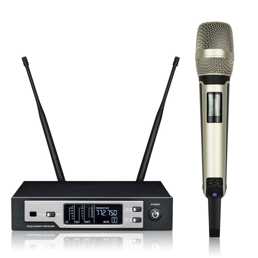 Leciozic-micrófono inalámbrico SKM9100, accesorio profesional de True Diversity, de mano, Mikrofon, inalámbrico, UHF, Audio de escenario