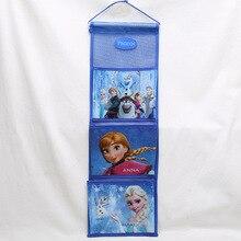 Disney prenses çocuk peluş sırt çantası saklama çantası dondurulmuş ELSA küçük dolap depolama duvar kapı arka cep sıralama çantası