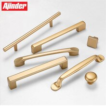 Kitchen Cabinet Gold Handles European Simple Cabinet Wardrobe Door Handles Furniture Drawer Pulls  Not Fade