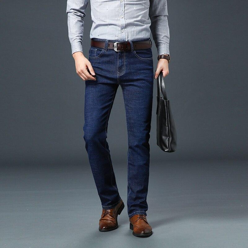 Мужские джинсы Smart Casual, Стрейчевые облегающие мужские джинсовые штаны, модные брендовые джинсы, мужские джинсовые брюки, удобные прямые джи...