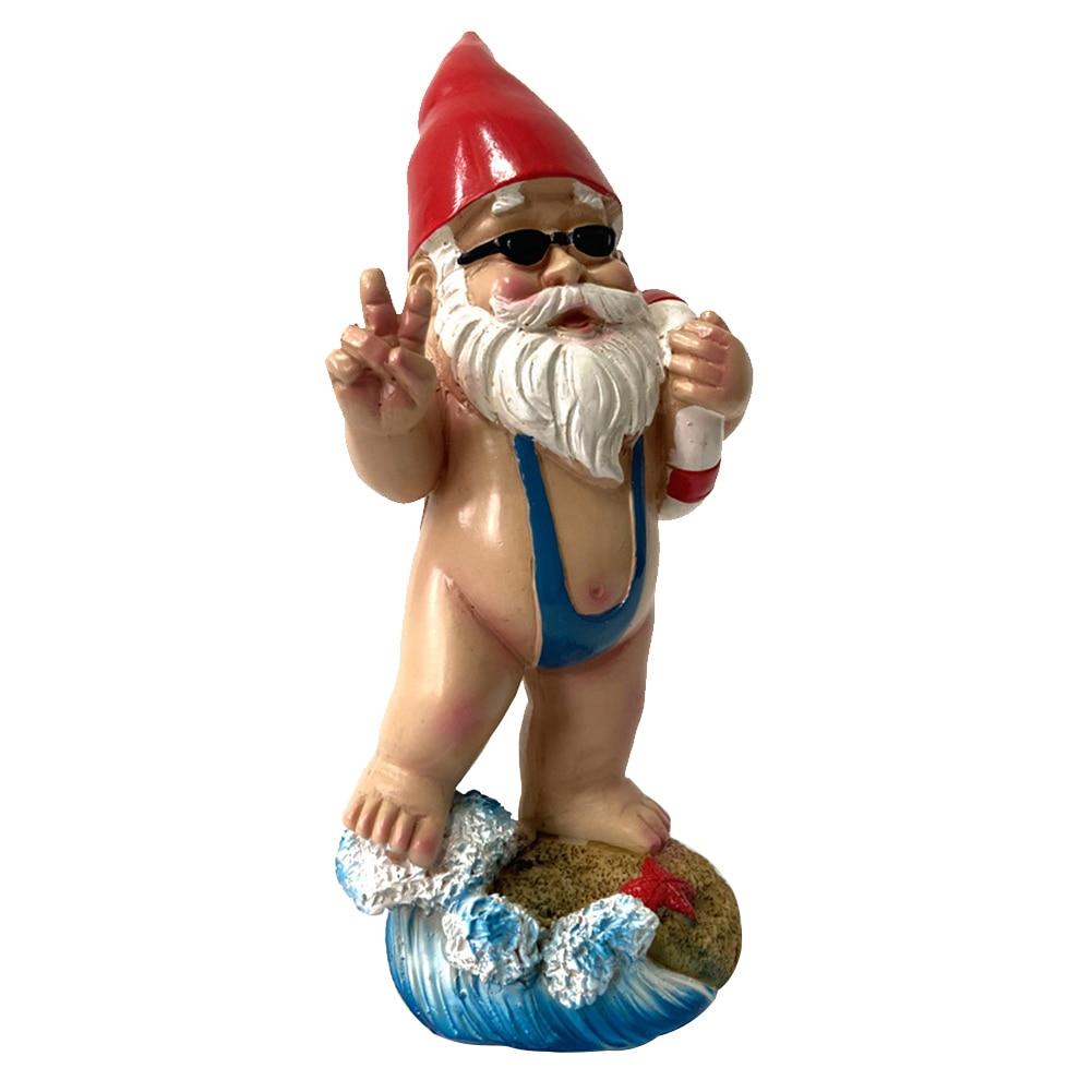 3D Swimming Dwarf Figurines Resin Gnome Doll Garden Resin Craft Statue Swimming Pool Decoration Garden Dwarf Gnome Sculpture
