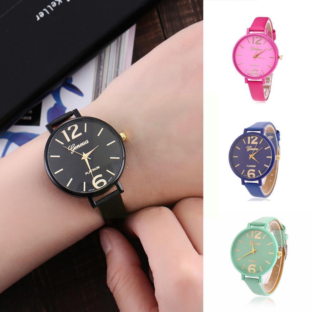 Женские наручные часы, повседневные женские модные кварцевые часы из искусственной кожи, женские часы, мужские наручные часы, часы 2021 G7E2