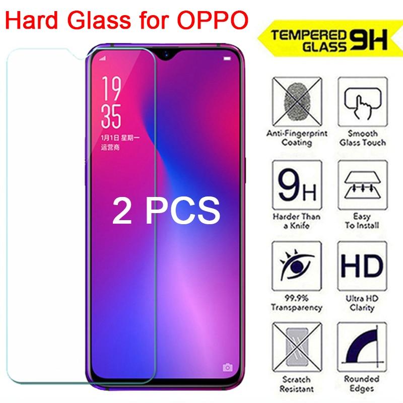 2 piezas de vidrio templado para OPPO K3 K1 F1 Plus F1S 9H Protector de pantalla HD de vidrio Protector para OPPO F11 Pro F9 F7 F3 F5 Lite