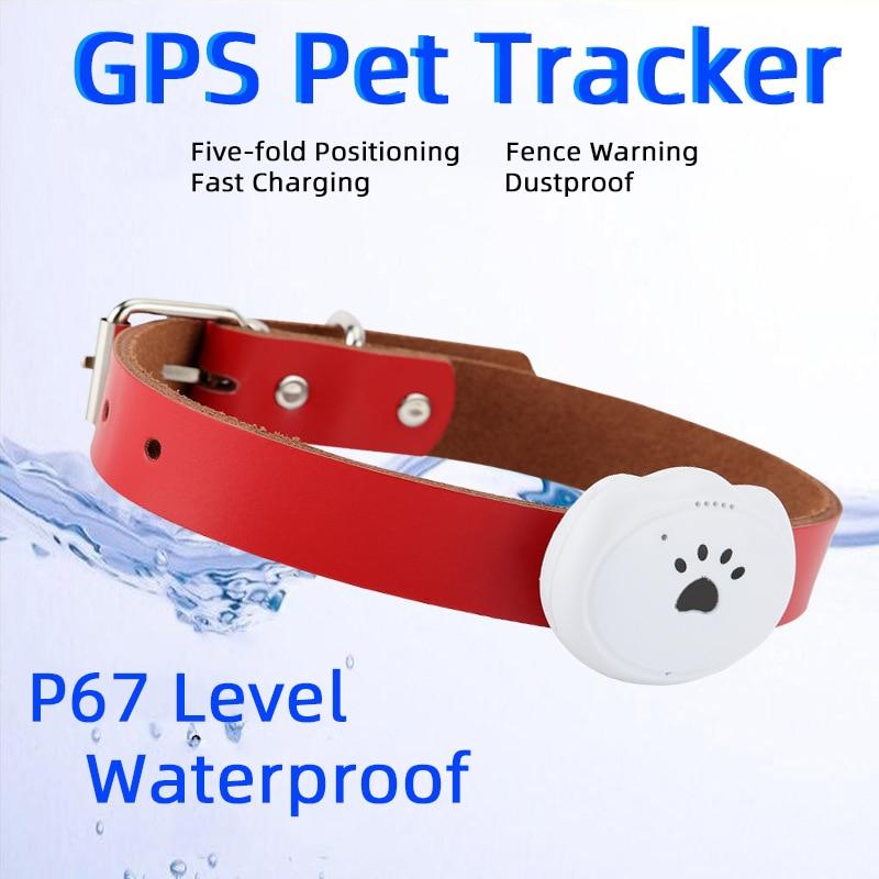 Inteligente impermeable Pet GPS rastreador Collar para perro gato AGPS LBS WIFI posicionamiento geo-cerca seguimiento dispositivo buscador equipo