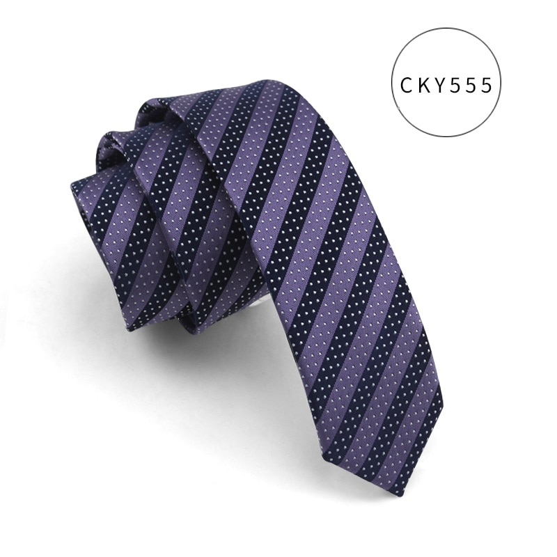 High Quality 2019 New Designers Brands Fashion Business Casual 5.5cm Slim Ties for Men Skinny Necktie School Work with Gift Box