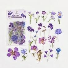 1 Pack (40 pcs stickers) Purple Flowers Decorative Stickers Sealing Paste Stick Label Bullet Sticker