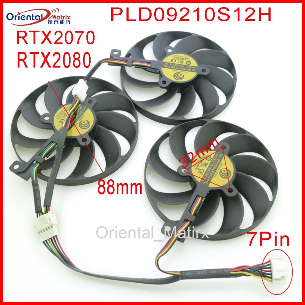 PLD09210S12H 12V 0.30A 88mm For ASUS ROG STRIX-RTX 2070 RTX2080 ROG-STRIX-RTX2070S SUPER Graphics Card Cooling Fan