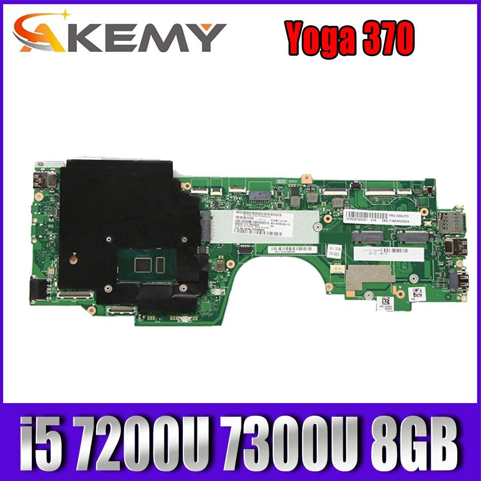 لينوفو ثينك باد يوغا 370 اللوحة الأم للكمبيوتر المحمول LA-E292P i5 7200U 7300U 8GB RAM FRU 02DL570 01HY349 اللوحة الرئيسية