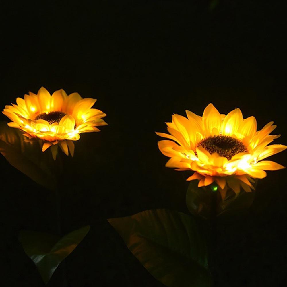 Lámpara Solar de jardín Solar con ahorro de energía, luz Led de girasol, impermeable, ecológica, luces solares IP66 para decoración de patio