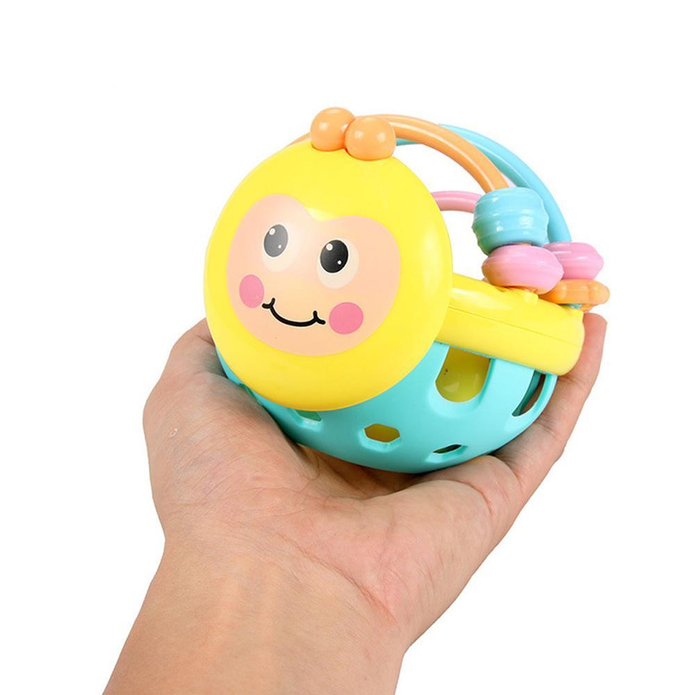 Baby Cartoon Animal Little Bee Teeth Biting Babies Toddler Bed Bell Rattle Toy Newborn Baby Toys Infant Early Educational Toys