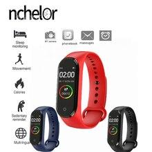 Новый Hgh качество новый бренд M4 умные часы монитор сердечного ритма для мужчин и женщин мониторинг спорта трекер здоровья браслет