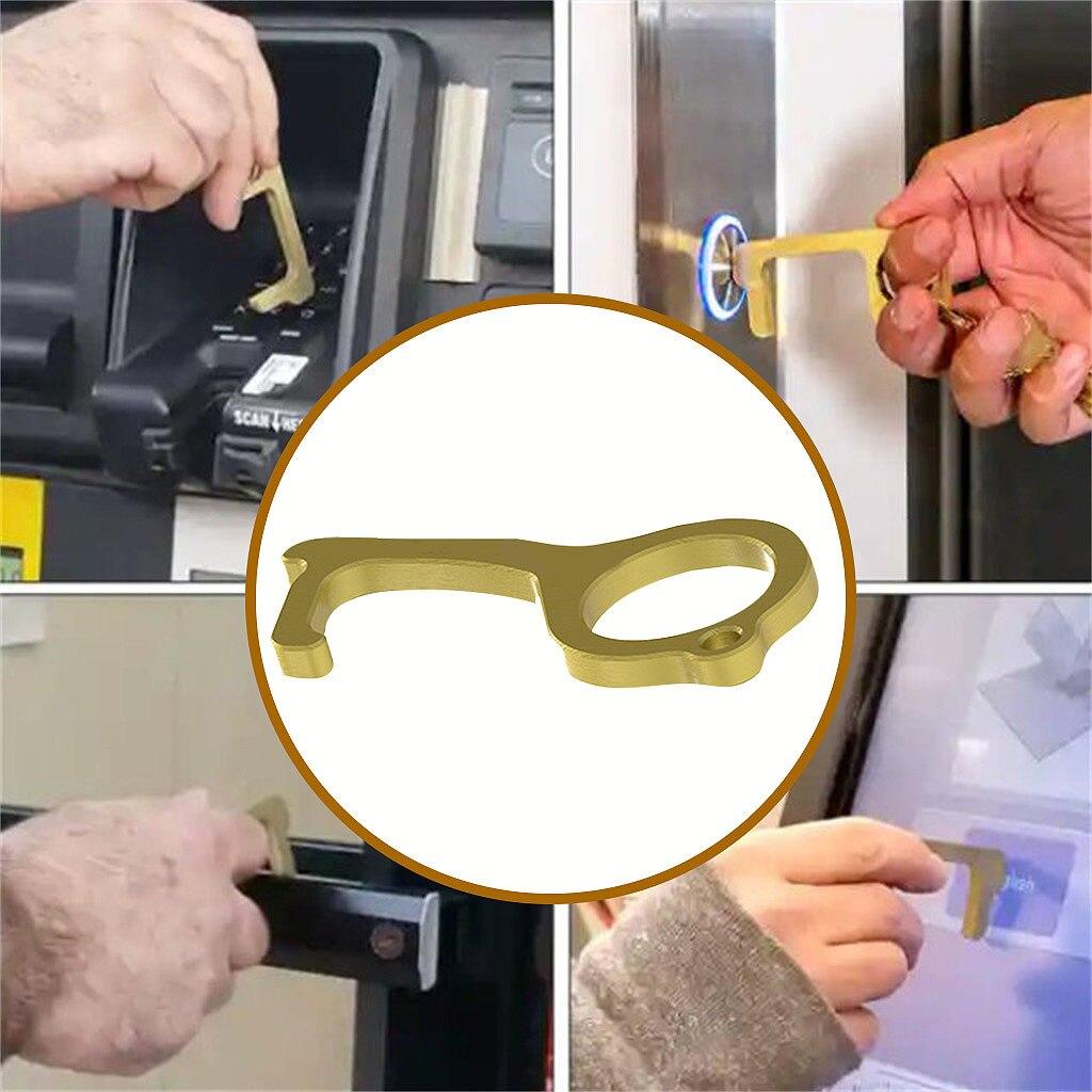 1pcs No tocar la puerta abierta asistente portátiles de botón del ascensor de higiene de la manija de la puerta asistente sin contacto clave abridor de la puerta