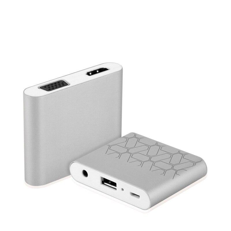 USB VGA Video Converter Female To Female Smart Phone To VGA HD 1080P Digital AV Multiport Adapter fo