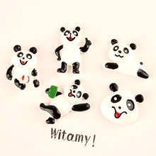 Kawaii résine Cabochon mignon Animal Panda forme Flatback ornement accessoire matériel Slime perles charme artisanat décor 10 pièces 22*30m