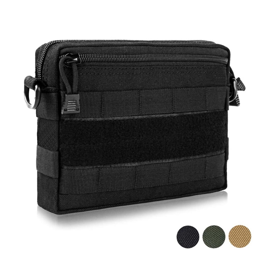 1000D Molle Pouch Tactical Emergency Survival Pocket Multi-functional EDC Waist Pack for  Belt Backpack Outdoor Camping EDC Bag