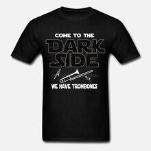 Men T shirt Trombone Shirt - Come To The Dark Side Summer s funny t-shirt novelty tshirt women
