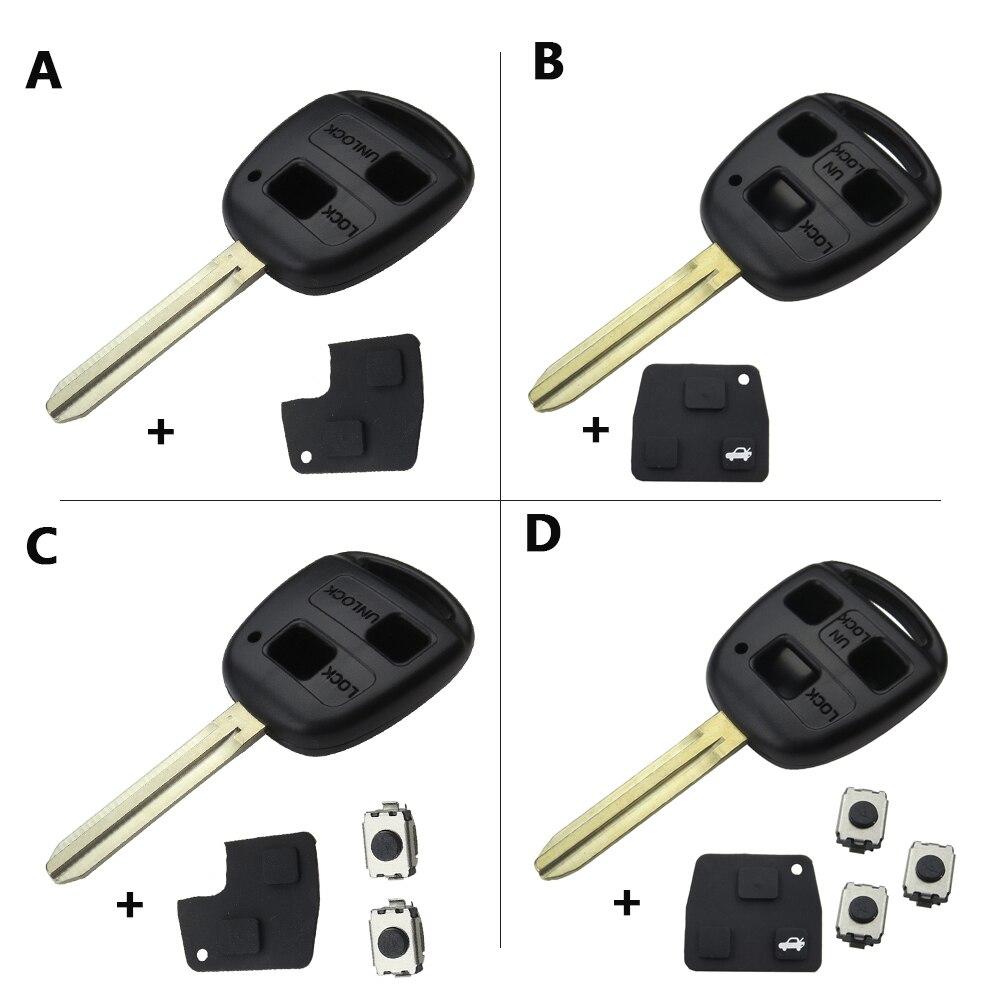 OkeyTech дистанционный автомобильный чехол для ключей 2/3 BTN для Toyota Yaris Prado Tarago Camry Corolla TOY43 Blade + резиновый кнопочный коврик + переключатели