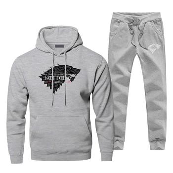 Game Of Thrones Sweatshirt Hoodies Pants Sets Men Fashion House Stark Not Today Sportswear Mens Warm Fleece Hip Hop Streetwear