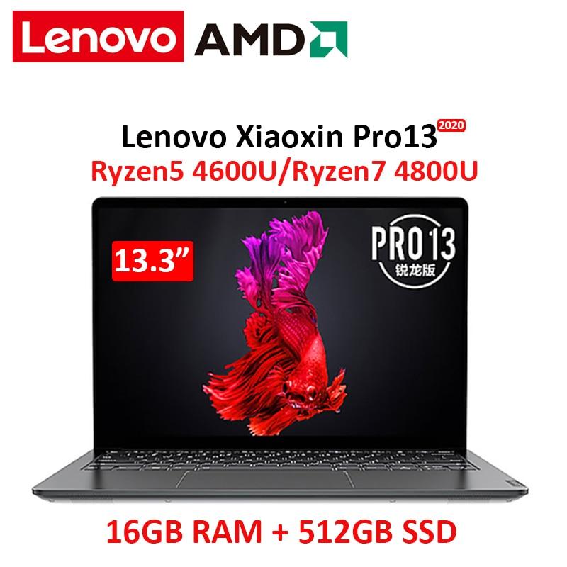 Lenovo 2020 Pro 13 laptop AMD Ryzen 7 4800U CPU 16GB RAM 512GB SSD 13.3 inch notebook computer full screen ultraslim laptop