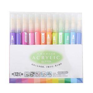 12 Colors Acrylic Paint Marker Pen for Ceramic Rock Glass Porcelain Mug Painting Q1JC
