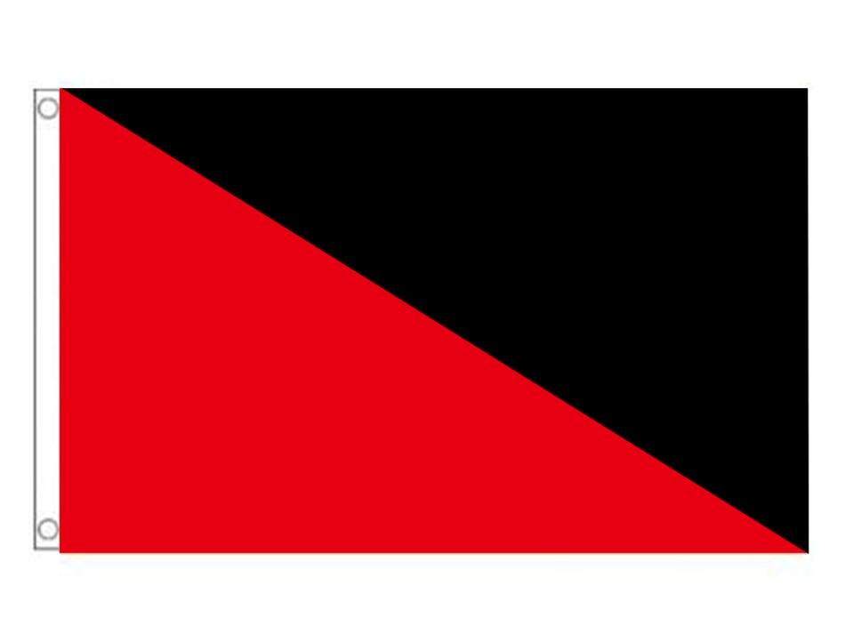 Anarcho-Bandera de anarcado, 90x150cm