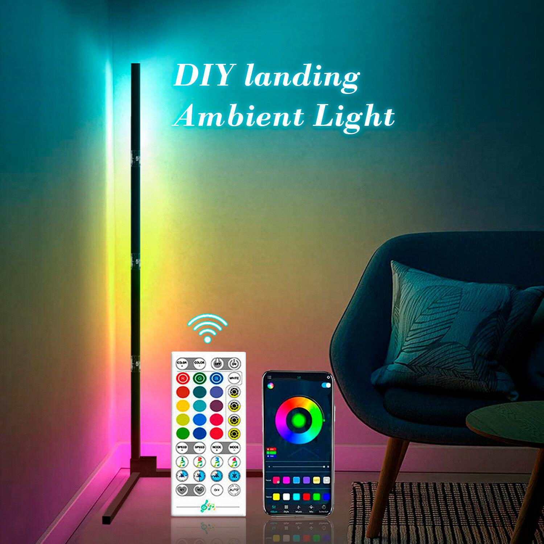 LED مصباح الزاوية الحديثة RGB الدائمة مصباح تغيير اللون مع جهاز التحكم عن بعد لتزيين الغرفة