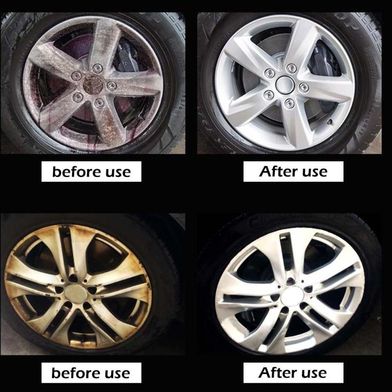 50ml v-vaxy coche pintura de hierro para quitar el polvo agente rueda Hub limpiador de moho Spray