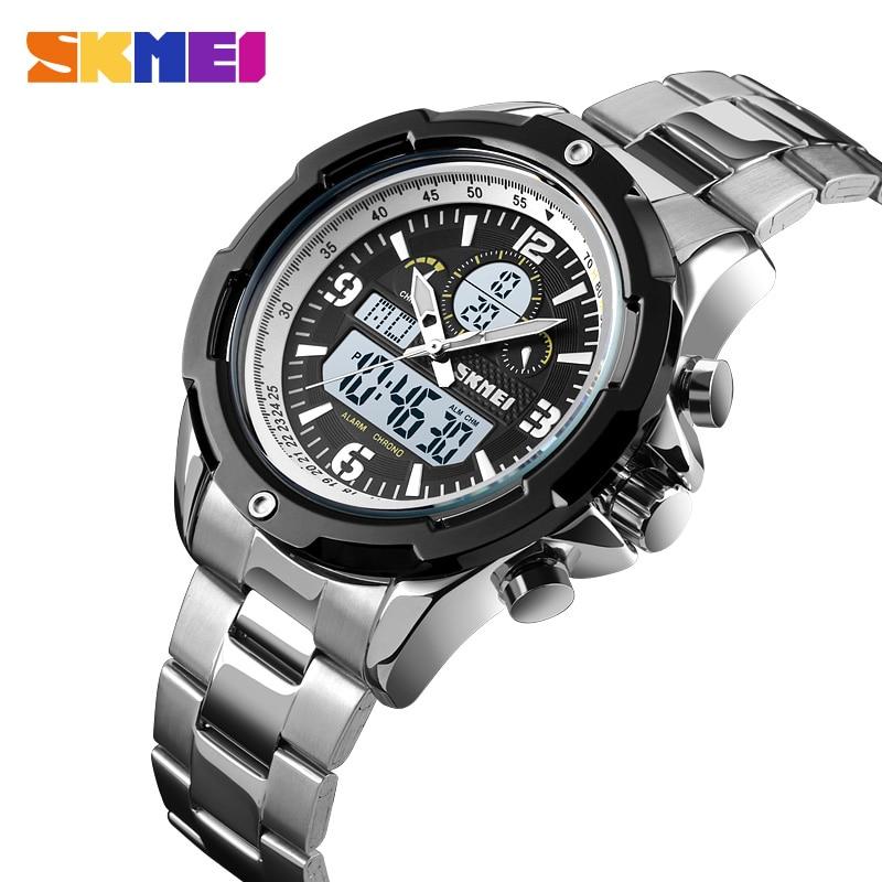 Skmei Digital Watch Fashion Men's Watches Stainless Steel LED Light Clock Waterproof Wrist Watch relogio montre homme Man Watch