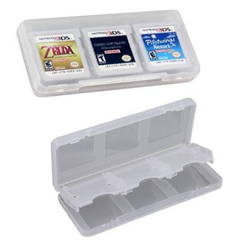 6 en 1, caja de almacenamiento transparente de plástico duro protector para tarjetas de juego para Nintendo 2DS NDSL NDSI, nuevo 3DS LL/XL 3DSXL 3DSLL