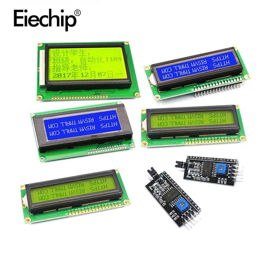 Écran LCD 5V avec lumière noire, bleu/jaune/vert, pour arduino, avec carte adaptateur IIC/I2C, 1602A, 2004