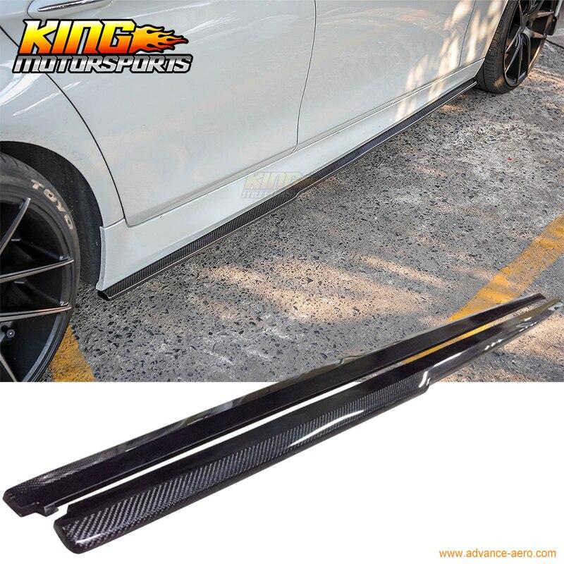 Ajuste para 2011-2015 12 13 14 F10 BMW serie 5 m-tech m-sport sólo DP faldas laterales de fibra de carbono CF