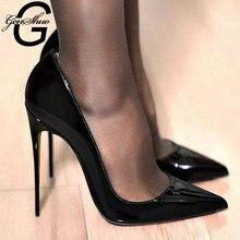 Chaussures de créateur Femme noir talons hauts 12CM blanc rouge Chaussures de mariage dames nu talon pompes femmes chaussure Chaussures Femme taille 5-12