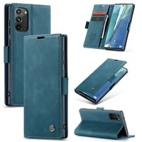 case for samsung galaxy note20 premium leather wallet case with card slots kickstand magnetic protective flip phone shell cover