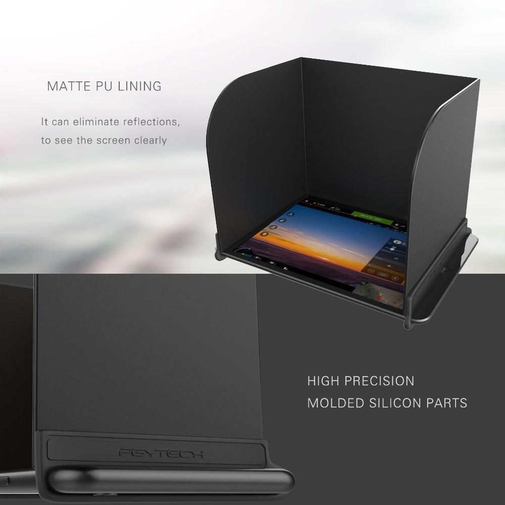 Para DJI Mavic Pro/chispa/Phantom 4 Pro de DJI/4/3 inspirar 1/2 PGYTECH controlador Monitor cubierta de sol para teléfono/almohadilla