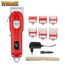 WMARK NG-2024 NG-2025 All-Metal Corded or Cordless Use Hair Clipper With LCD Display 2500mAh 6500 RP