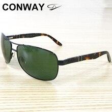 Conway Pilot Sunglasses for Men Military Style Classic Driver's Sunglasses Anti Glare UV Block Sprin