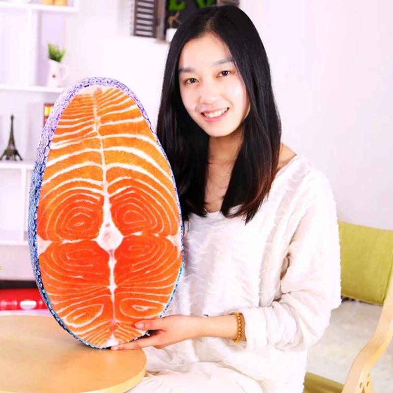 Моющаяся забавная имитация вкусной лососевой рыбы подушка в виде суши Подушка Креативный дизайн домашний декор
