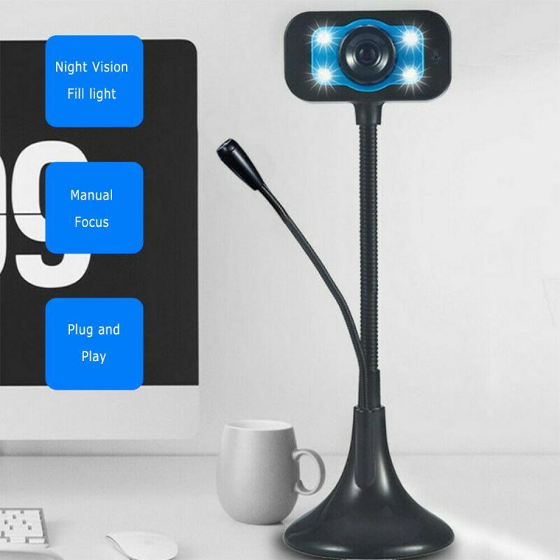 HD 1280P Цифровая видео веб-камера для компьютера, ПК, ноутбука для конференц-связи, онлайн-курса, веб-камера со встроенным микрофоном
